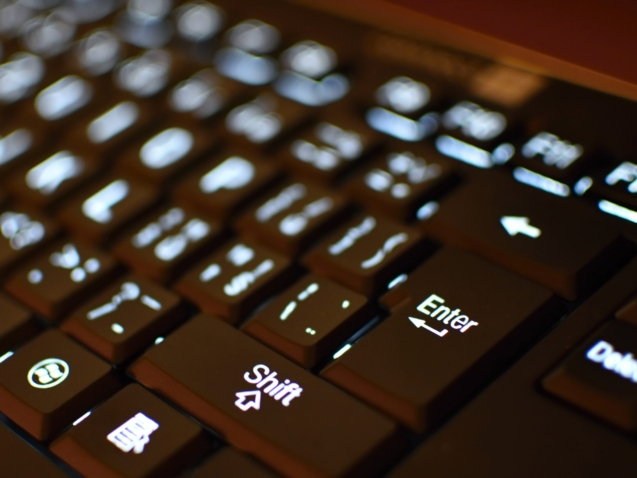 keyboard-in-close-up
